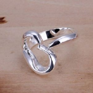 Jewelry - Ring  open heart Ring Size 8-Solid Silver